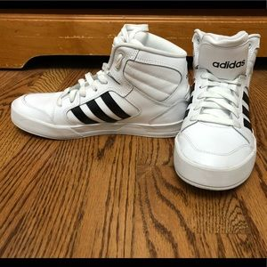 White high top Adidas shoes